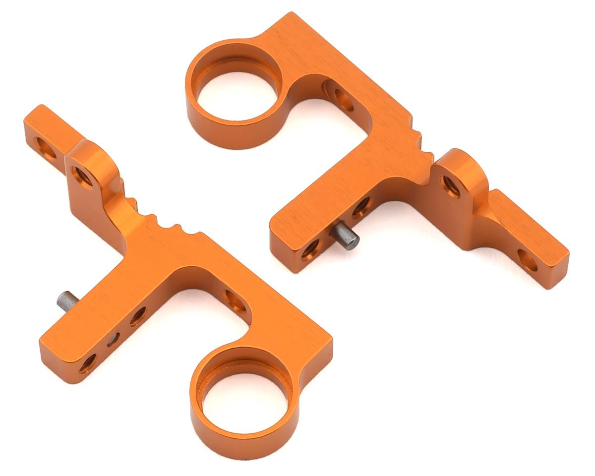 XRAY T4F Aluminum Front Upper Clamp (Orange) (2)