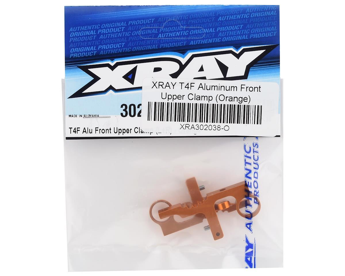 XRAY T4F Aluminum Front Upper Clamp (Orange) (2)
