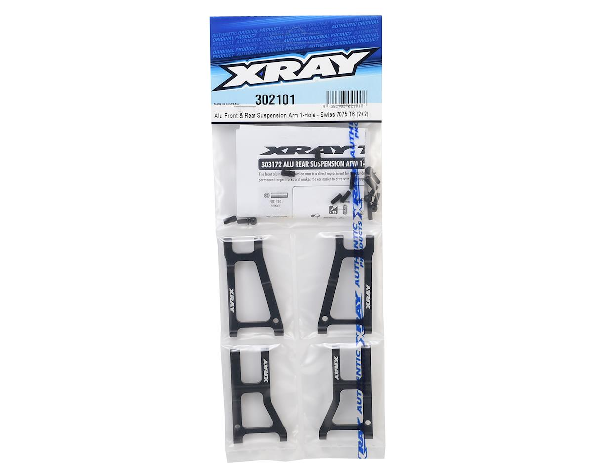 XRAY Aluminum Front & Rear Suspension 1-Hole Arm Set (2+2)