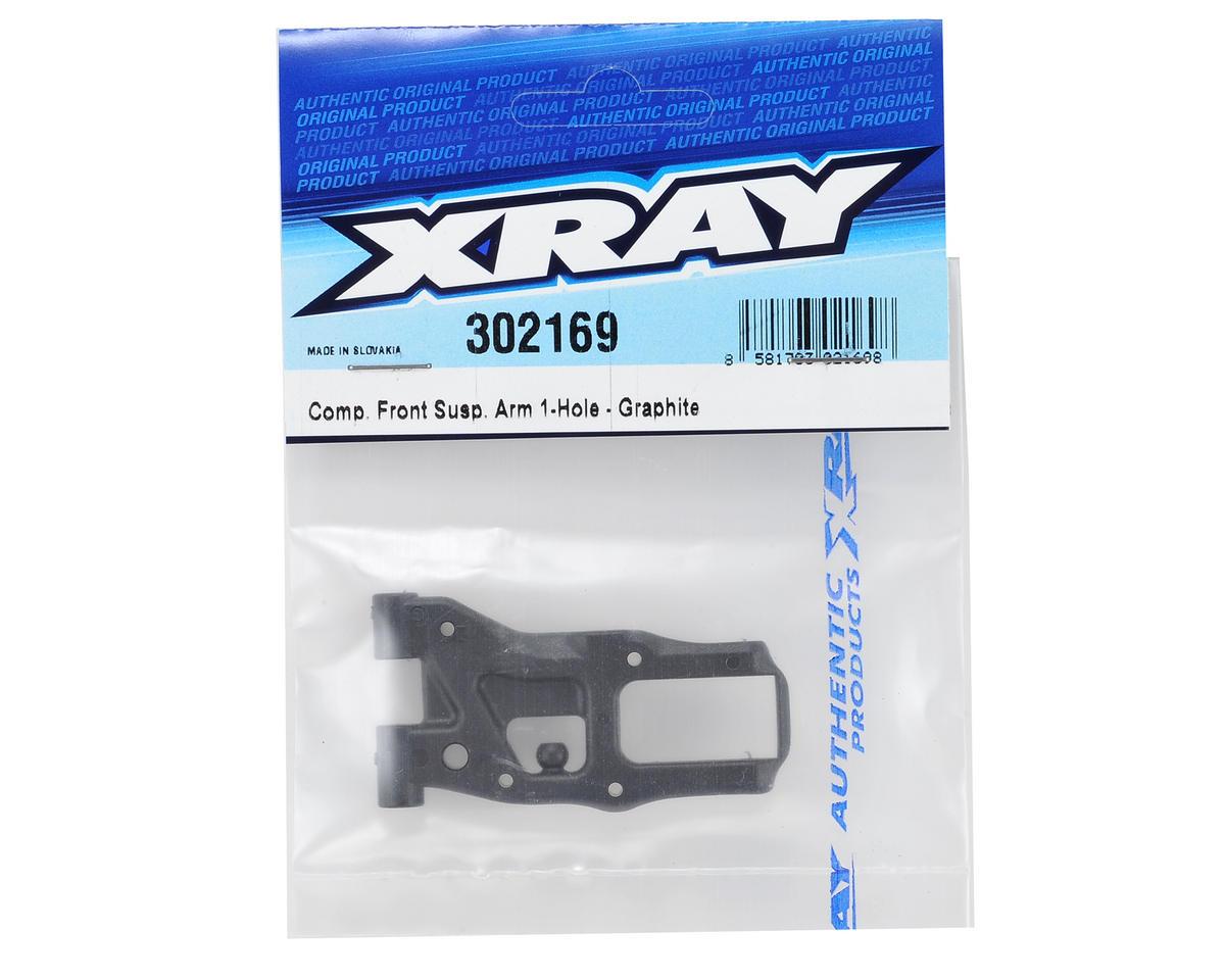 Graphite 1-Hole Front Suspsension Arm (Stiffener Arm) by XRAY
