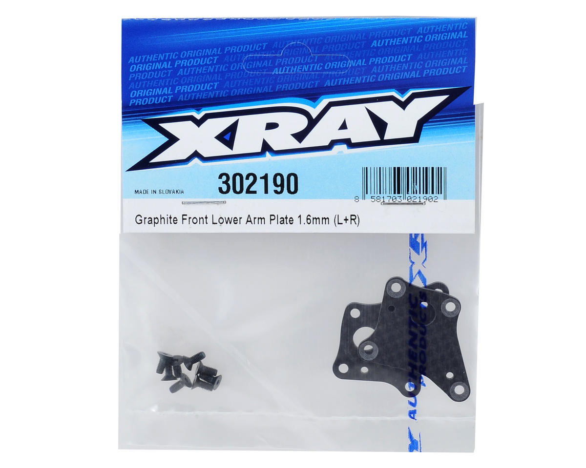 XRAY T4 1.6mm Graphite Front Lower Arm Plate (2)