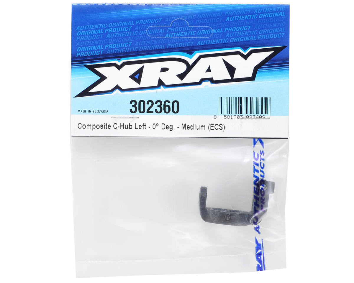 XRAY ECS Composite Medium Rubber-Spec C-Hub (Left 0°)