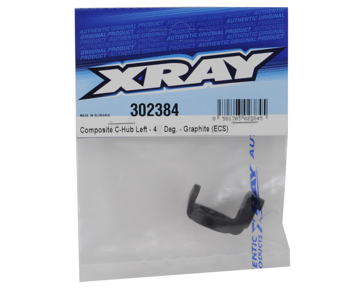 ECS Composite Graphite Rubber-Spec C-Hub (Left 4°) by XRAY