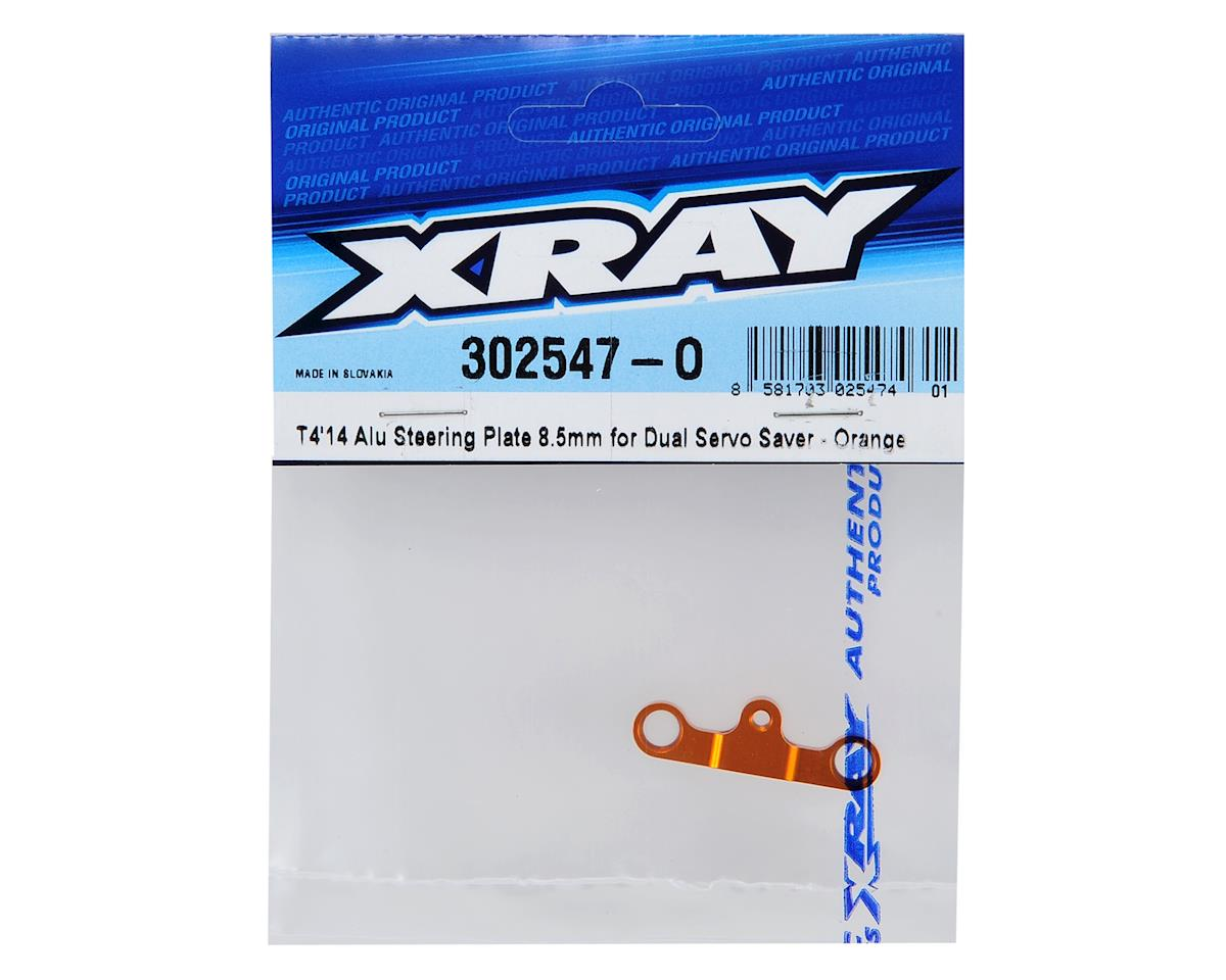 XRAY T4 2014 8.5mm Dual Servo Saver Aluminum Steering Plate (Orange)