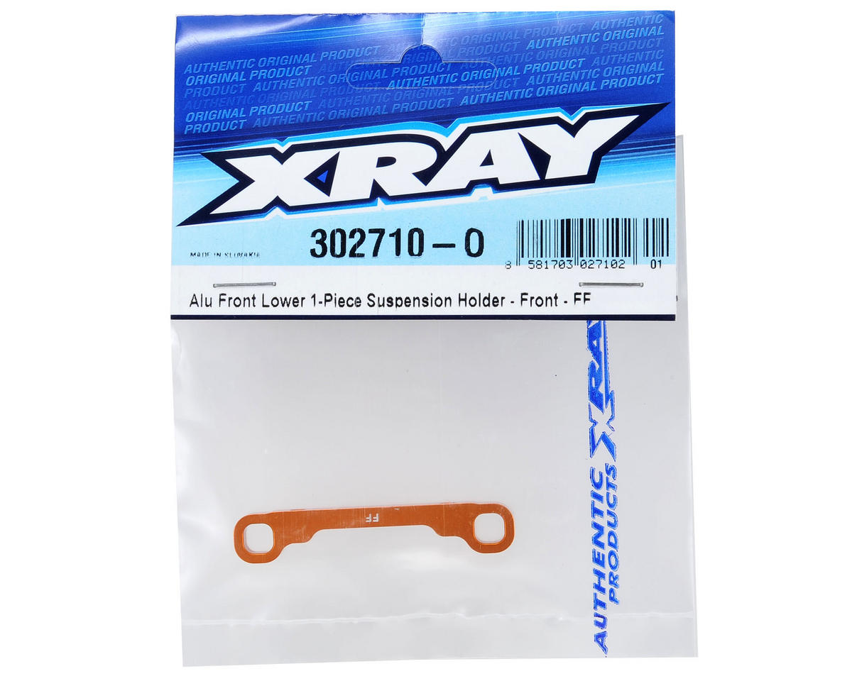 XRAY T4 Aluminum Front/Front Lower 1-Piece Suspension Holder (Orange)