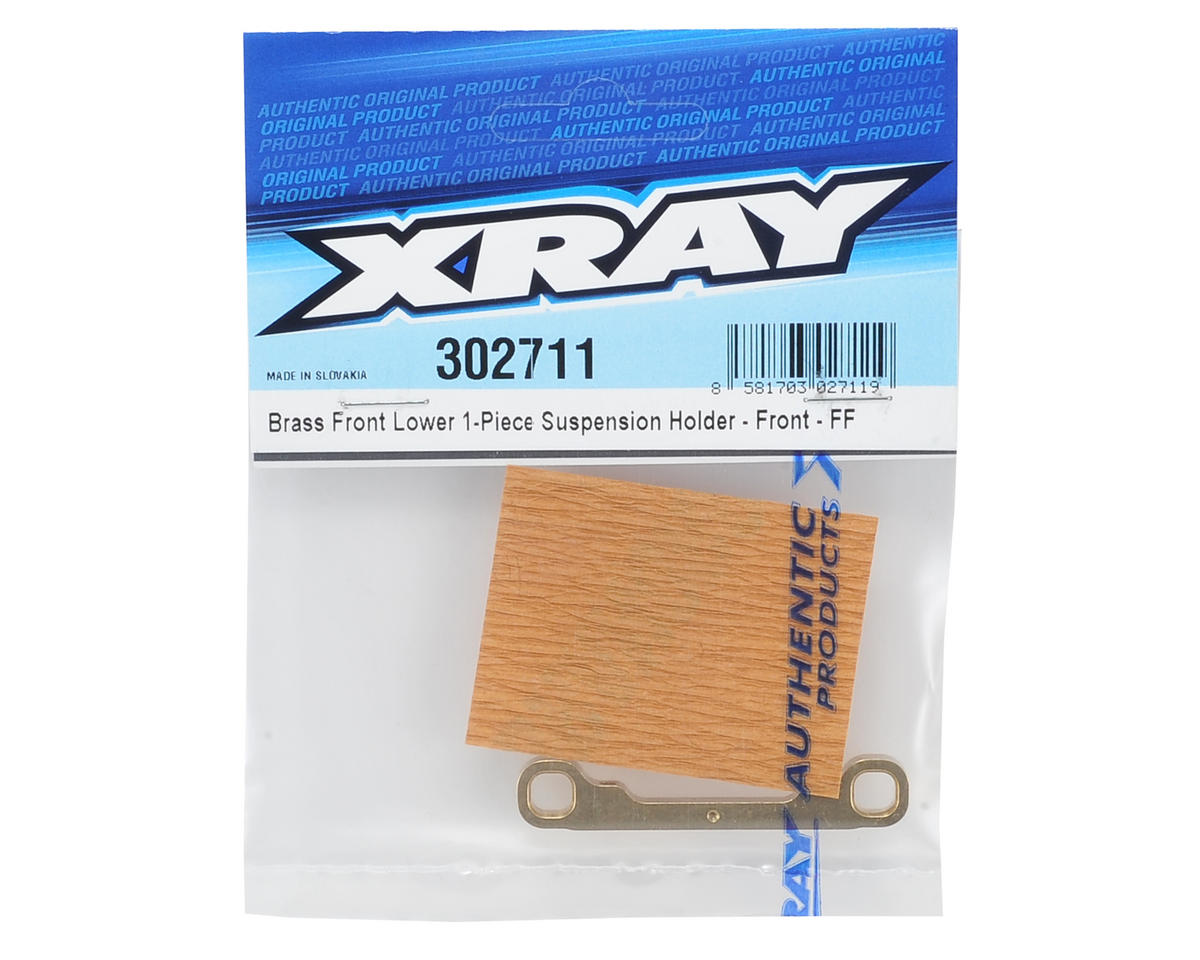T4 Brass Front/Front Lower 1-Piece Suspension Holder by XRAY