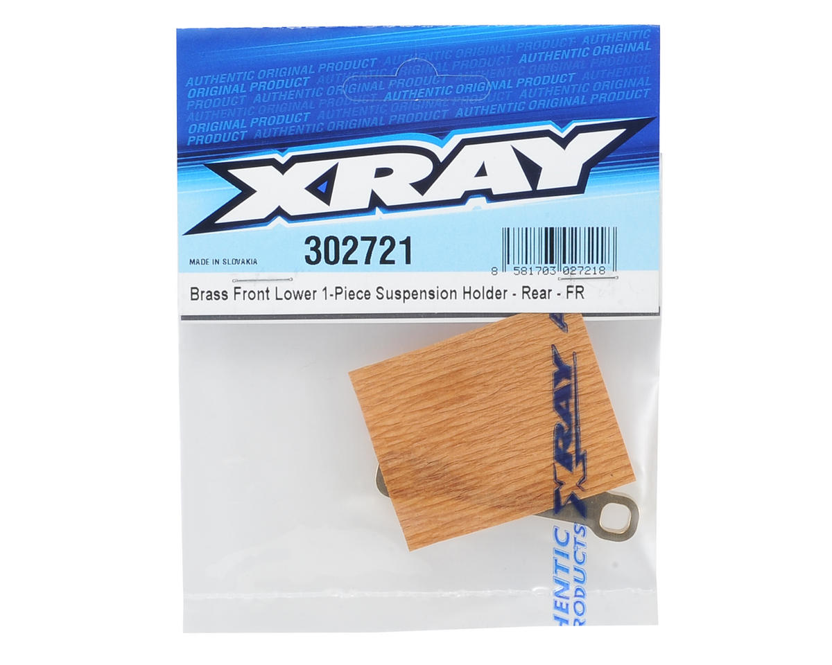 XRAY T4 Brass Front/Rear Lower 1-Piece Suspension Holder