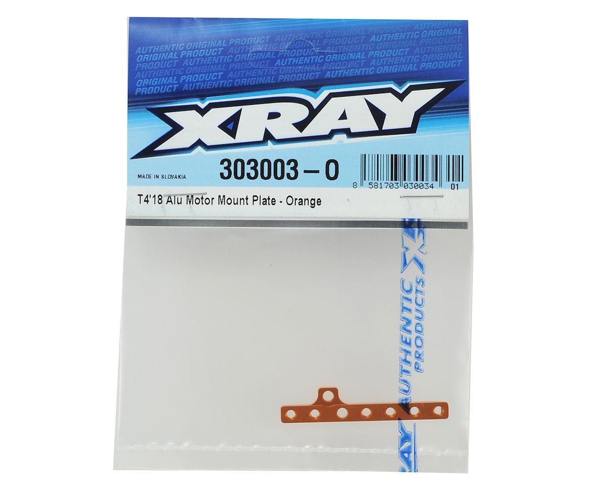 XRAY T4 2018 Aluminum Motor Mount Plate (Orange)