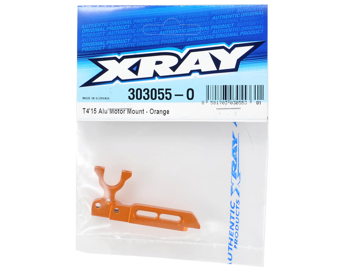 XRAY Aluminum T4 2015 Motor Mount (Orange)