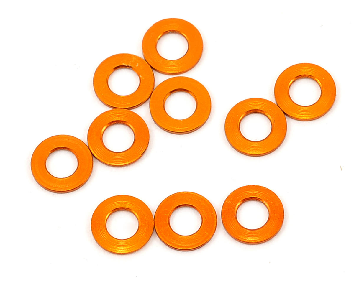 XRAY X10 2016 3x6x0.5mm Aluminum Shim (Orange) (10)