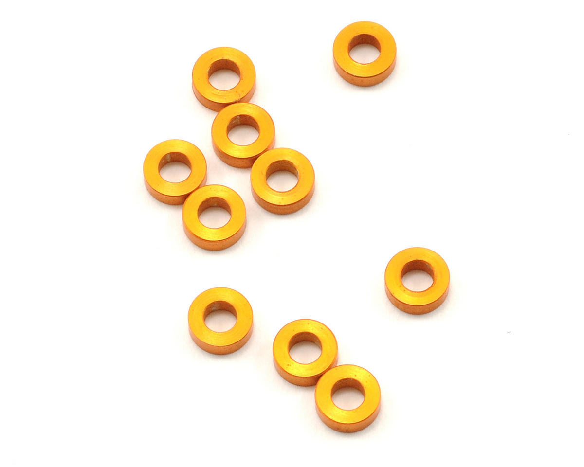 XRAY XT8 2017 3x6x2.0mm Aluminum Shim (Orange) (10)