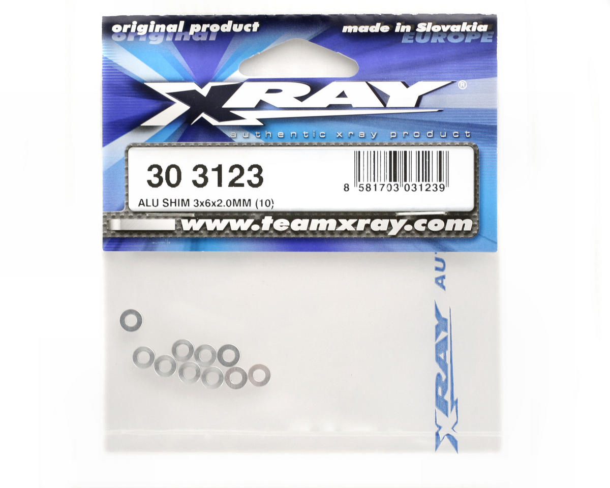 Image 2 for XRAY Aluminum Shim 3x6x2mm (10)