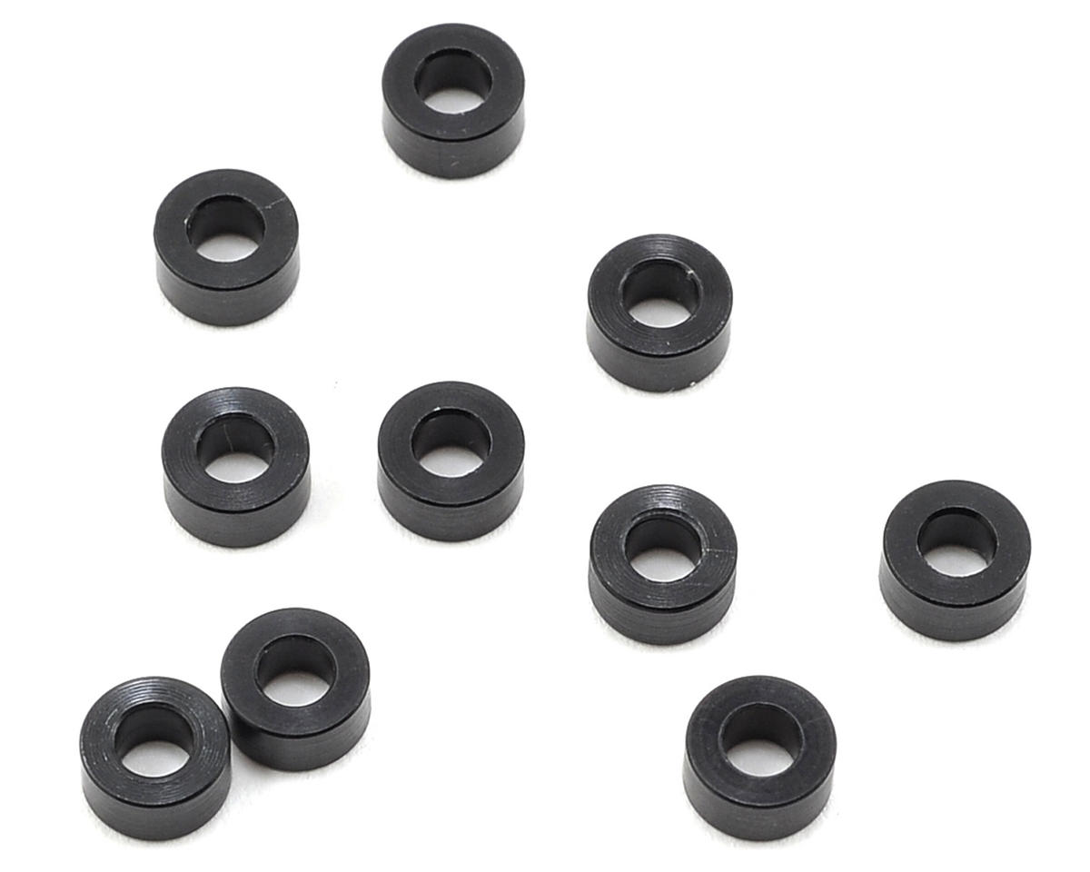 XRAY 3x6x3.0mm Aluminum Shim (10) (Black)