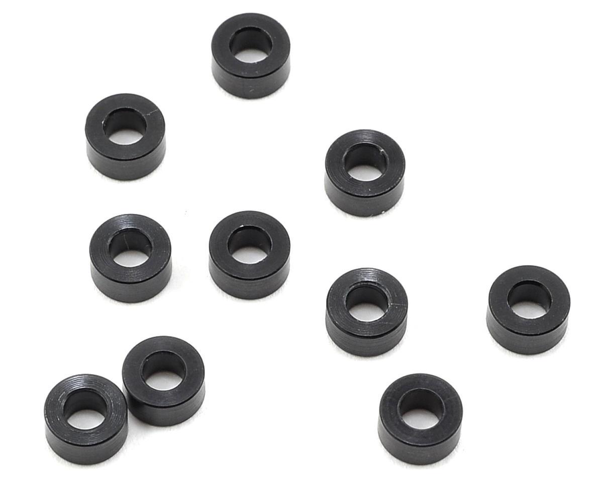 3x6x3.0mm Aluminum Shim (10) (Black) by XRAY