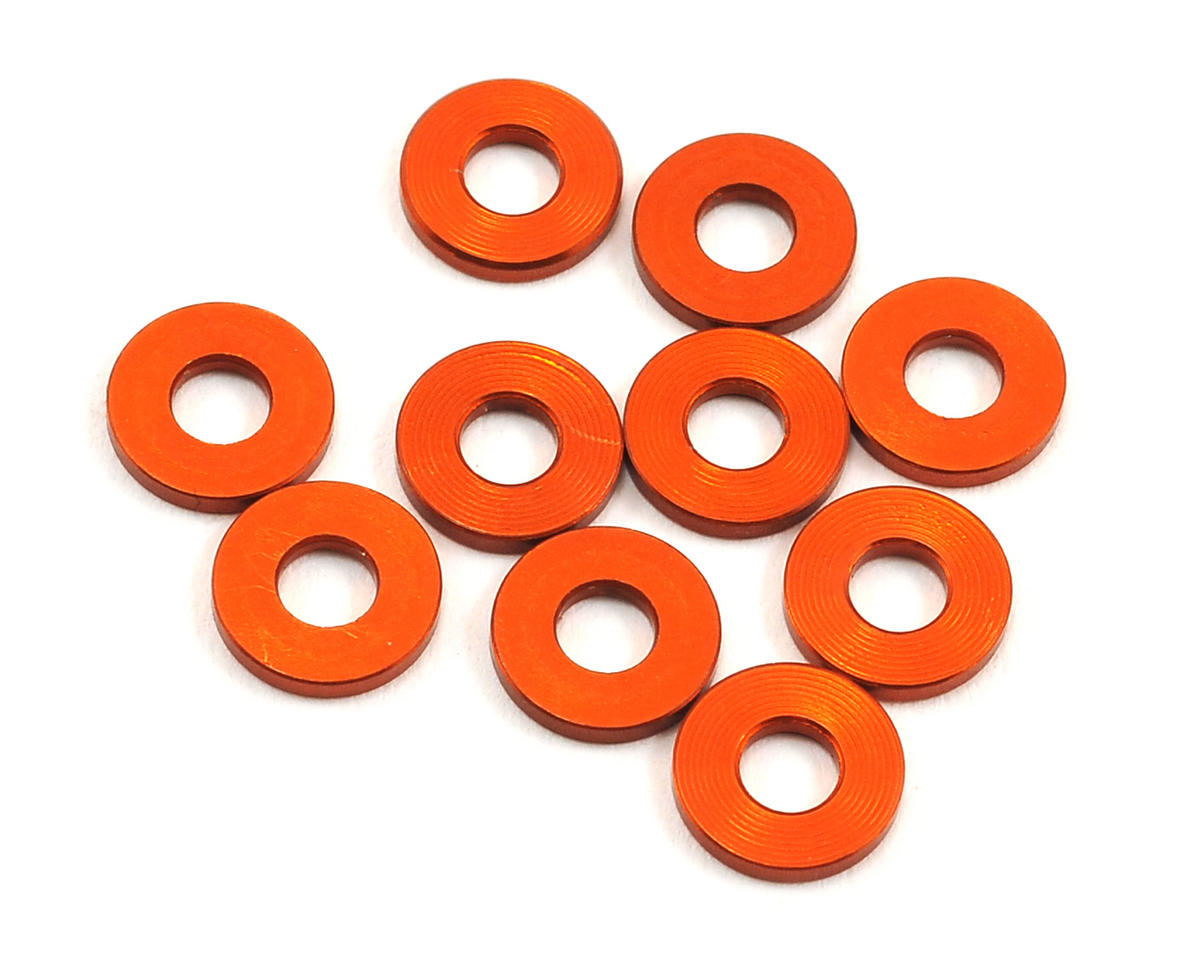XRAY 3x7x1.0mm Aluminum Washer (Orange) (10)