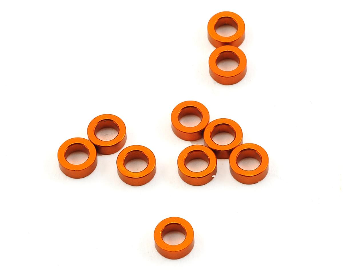 3x5x2.0mm Aluminum Shim (Orange) (10) by XRAY