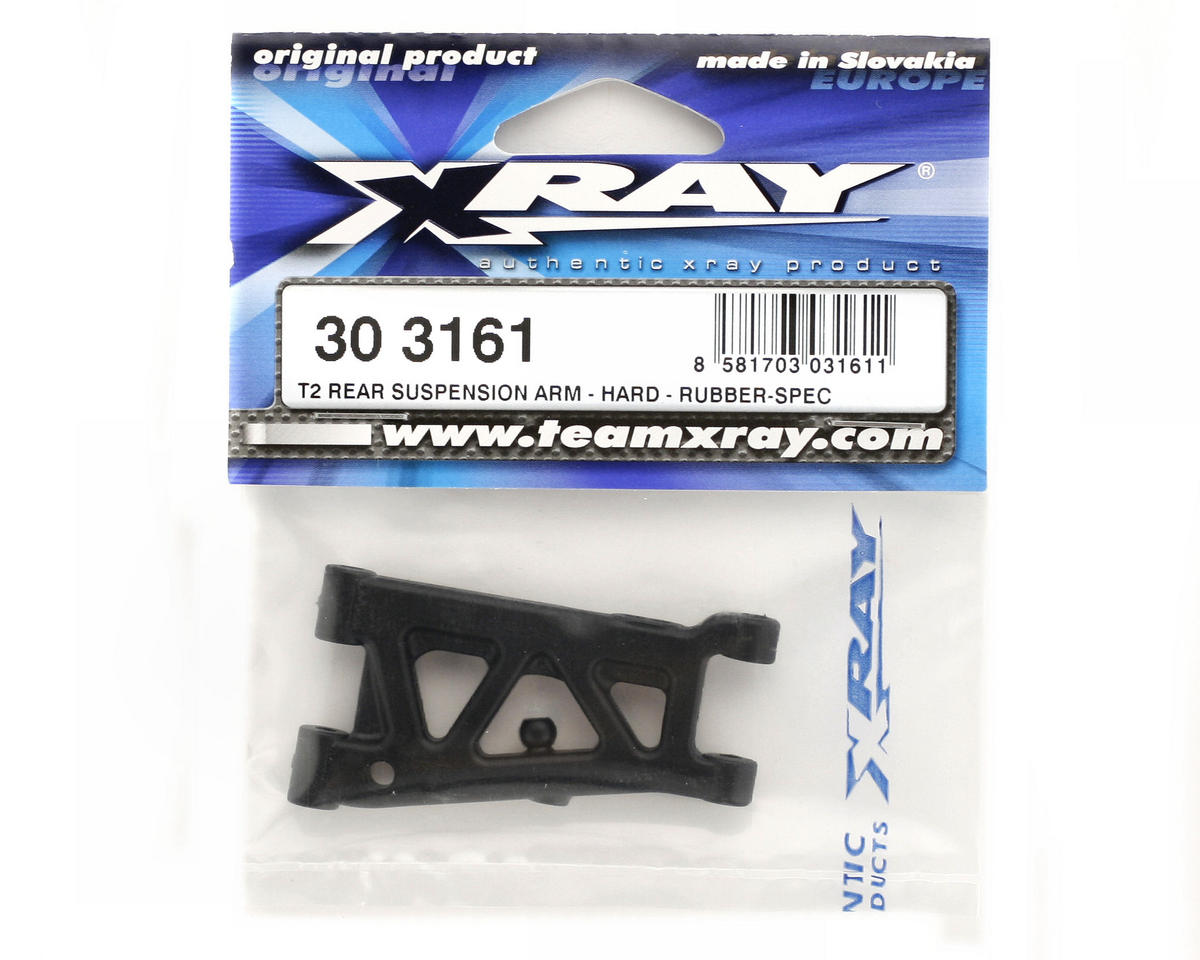 XRAY T2 Rear Suspension Arm (Rubber-Spec - Hard)