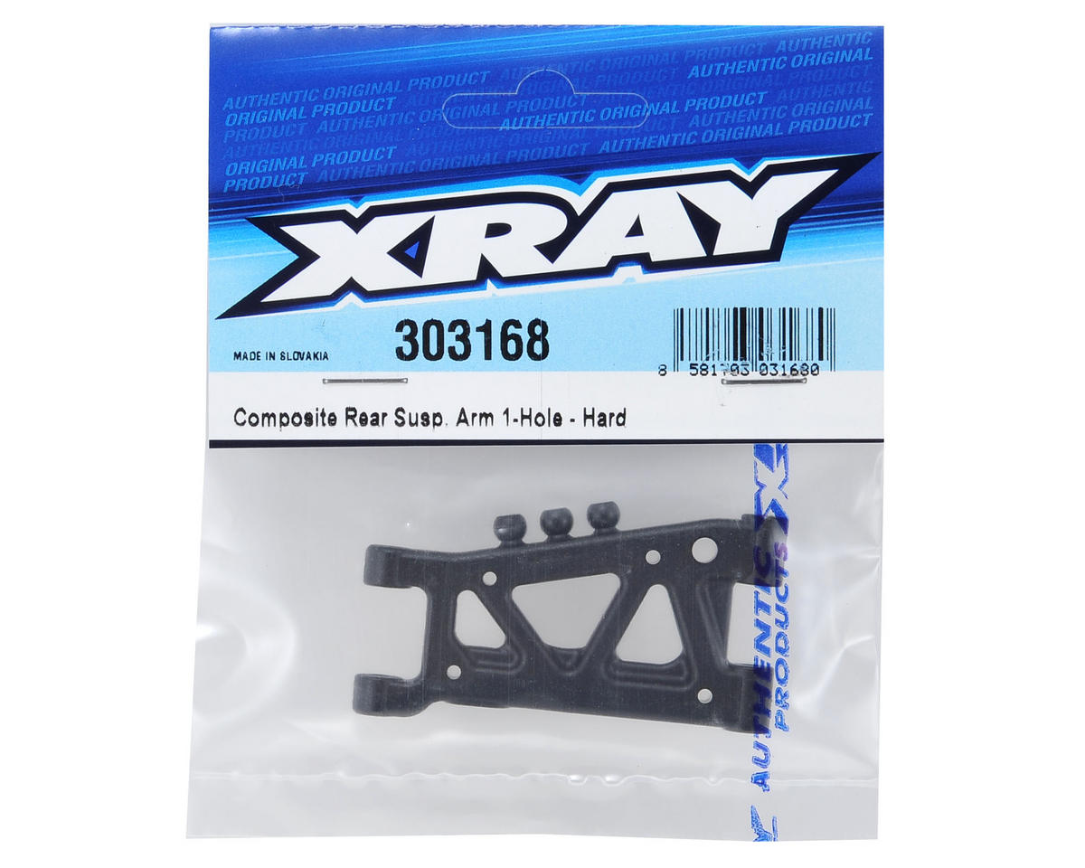 T4 2014 Hard 1-Hole Rear Suspension Arm by XRAY