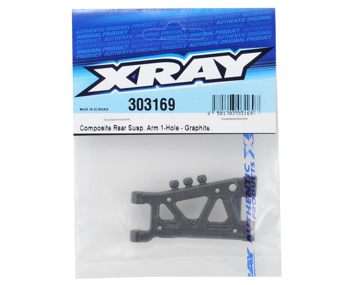 Graphite 1-Hole Rear Suspension Arm (Stiffener Arm) by XRAY