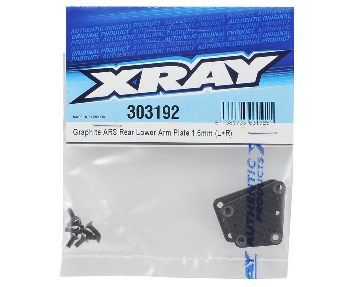 XRAY 1.6mm Graphite ARS Rear Lower Arm Plate (L+R)