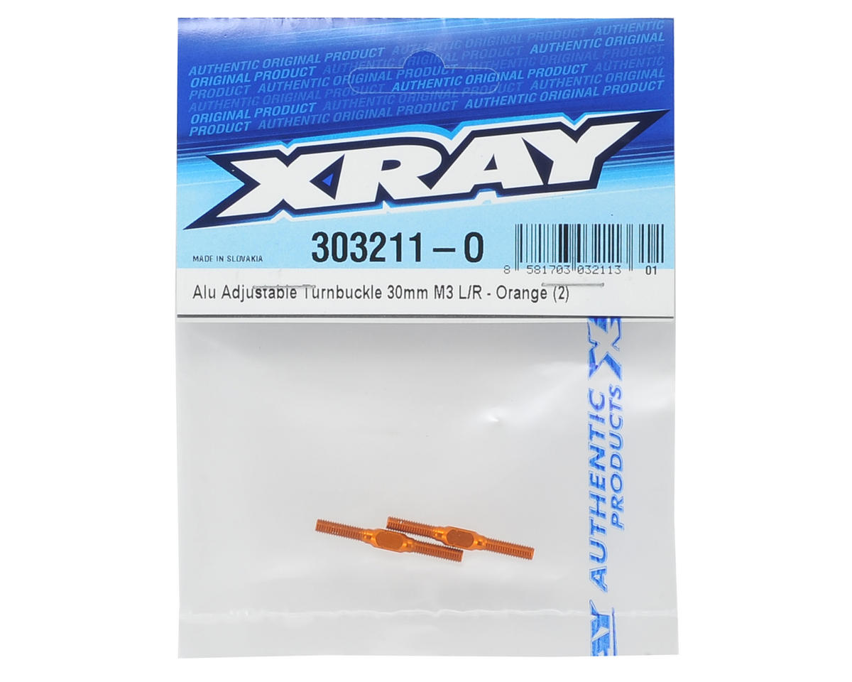 XRAY 30mm Aluminum Turnbuckle (Orange) (2)