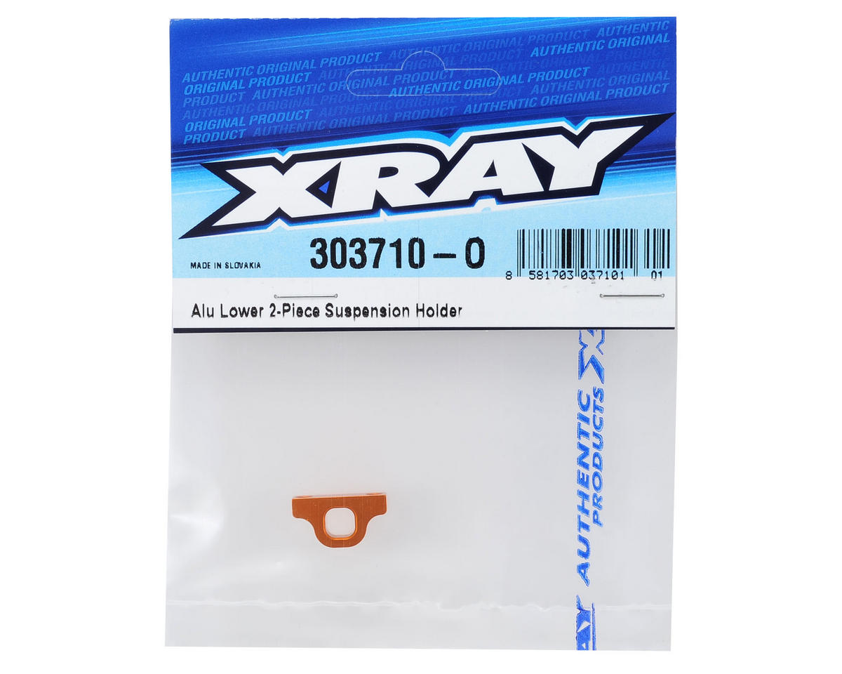 XRAY T4 2014 Aluminum Front/Rear Lower 2-Piece Suspension Holder (Orange)