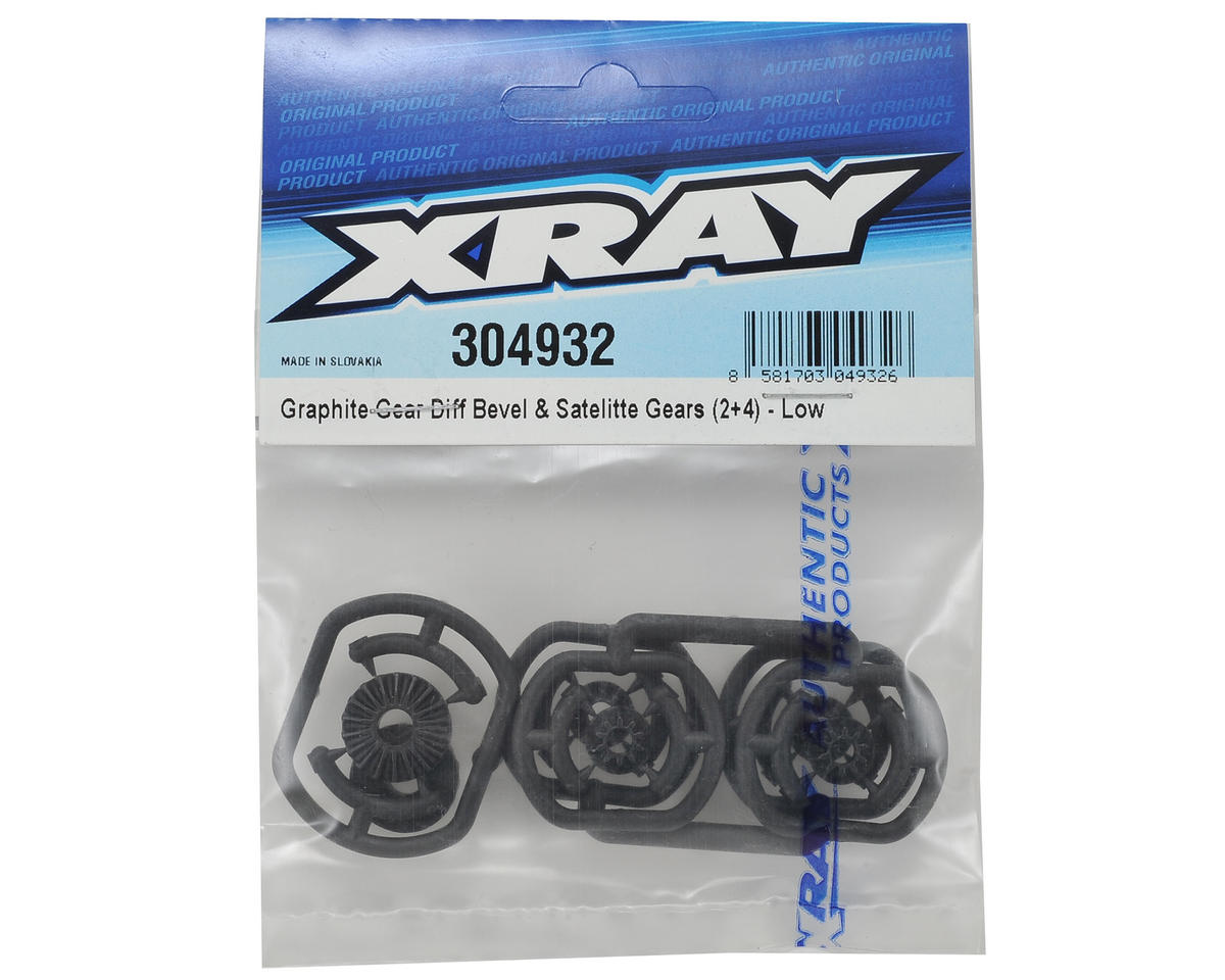 XRAY Graphite Gear Differential Bevel & Satellite Gear Set (Low)