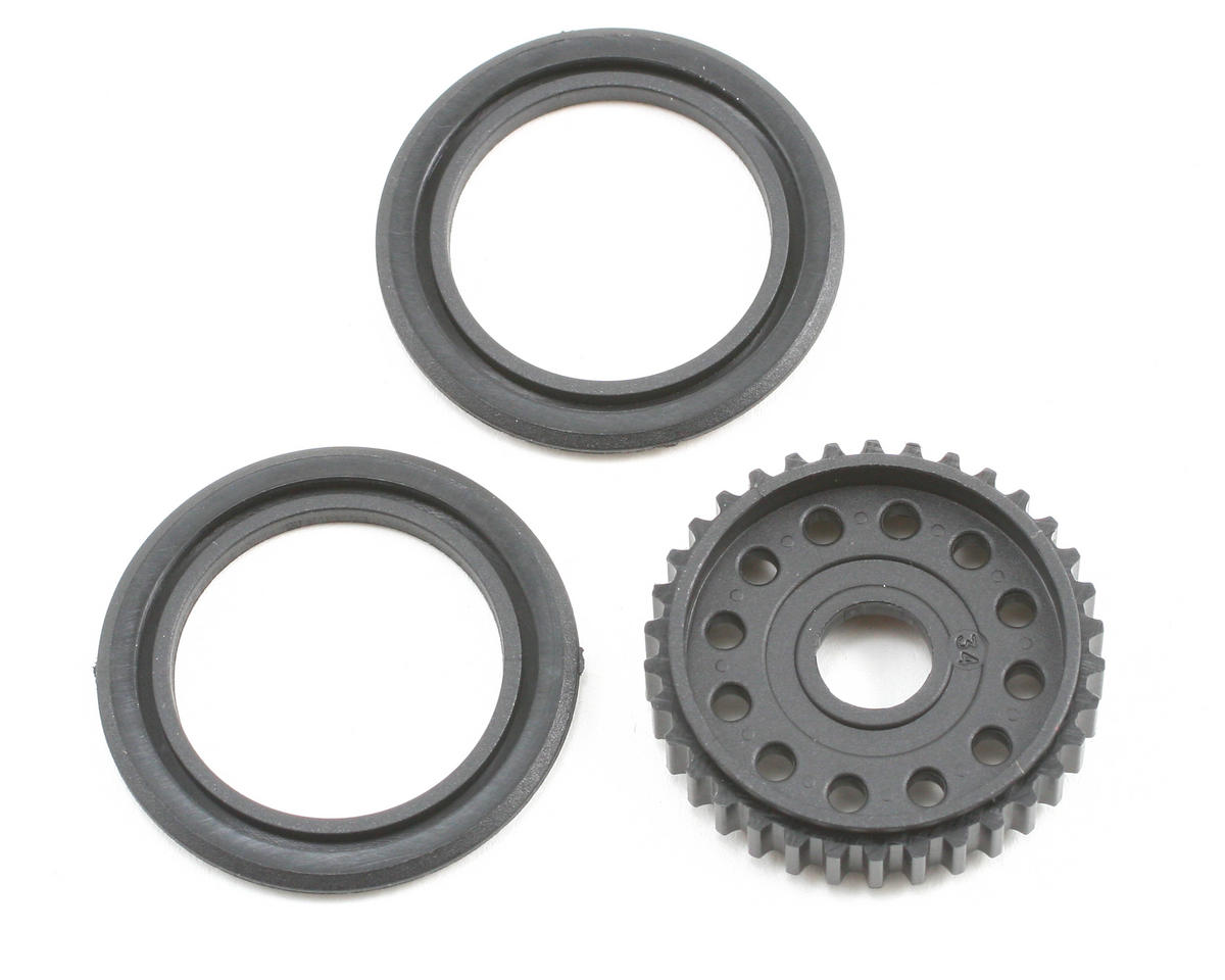 34T Differential Pulley w/Covers by XRAY