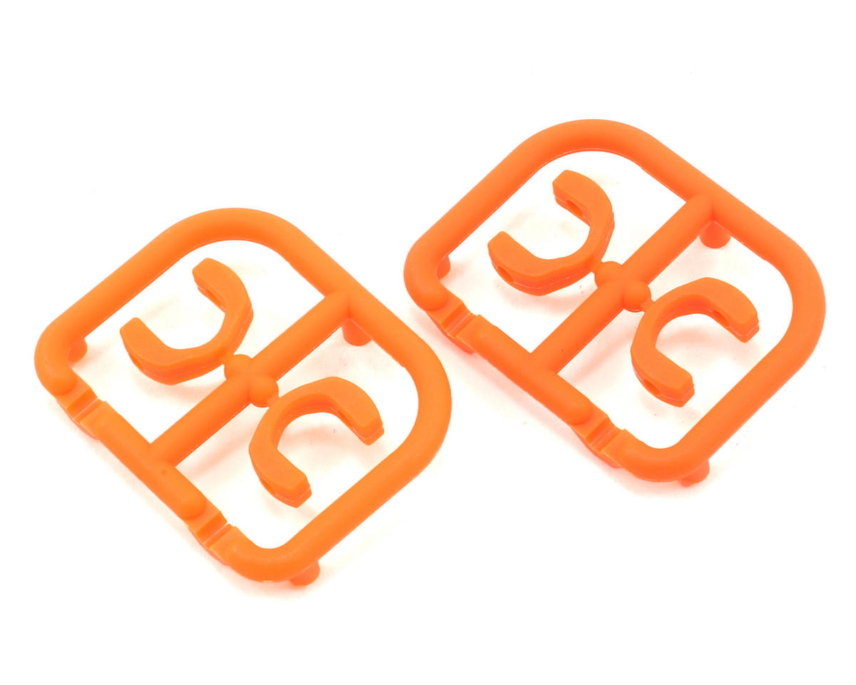 3.5mm Plastic Drive Pin Clips (4) (Orange) by XRAY