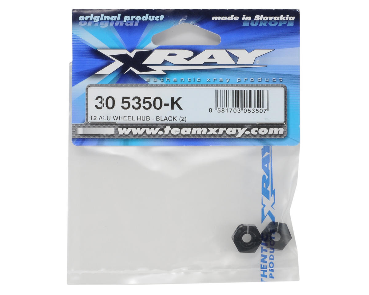 Aluminum Wheel Hub (Black) (2) (T2) by XRAY