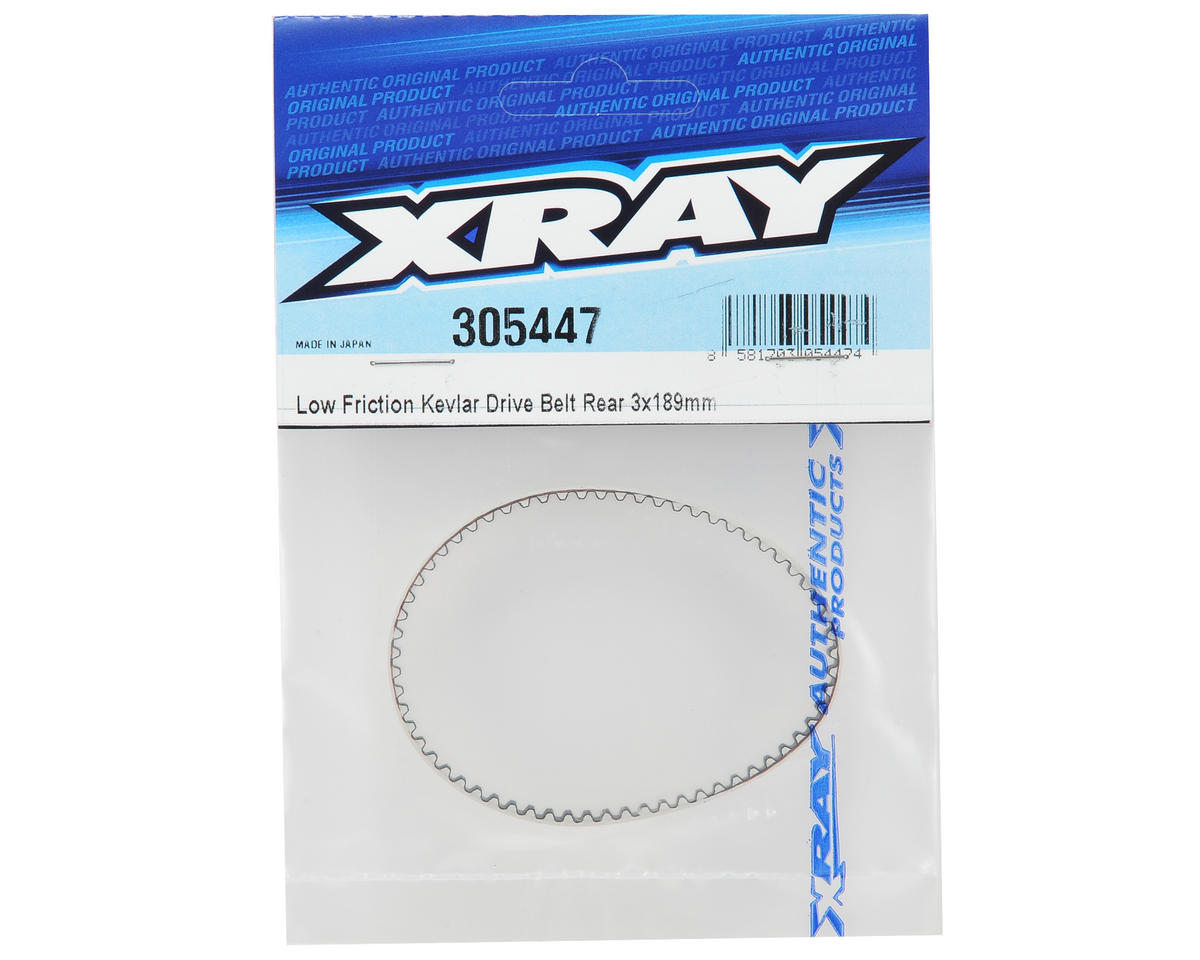 3x189mm High-Performance Low Friction Rear Drive Belt (Made with Kevlar) by XRAY