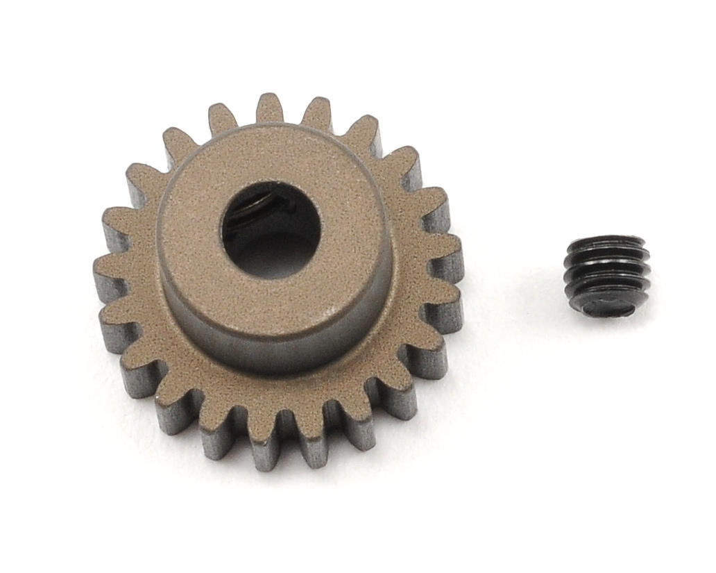 XRAY Aluminum 48P Narrow Hard Coated Pinion Gear (21T)