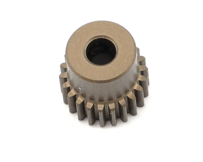 Aluminum 64P Narrow Hard Coated Pinion Gear (22T) by XRAY