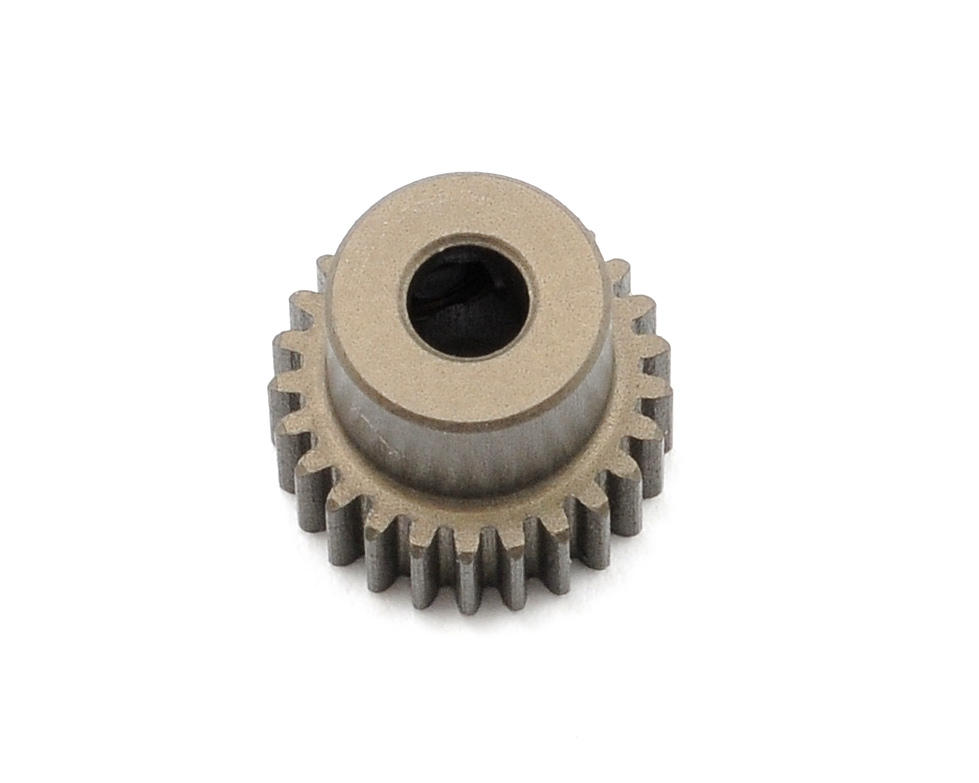 Aluminum 64P Narrow Hard Coated Pinion Gear (25T) by XRAY