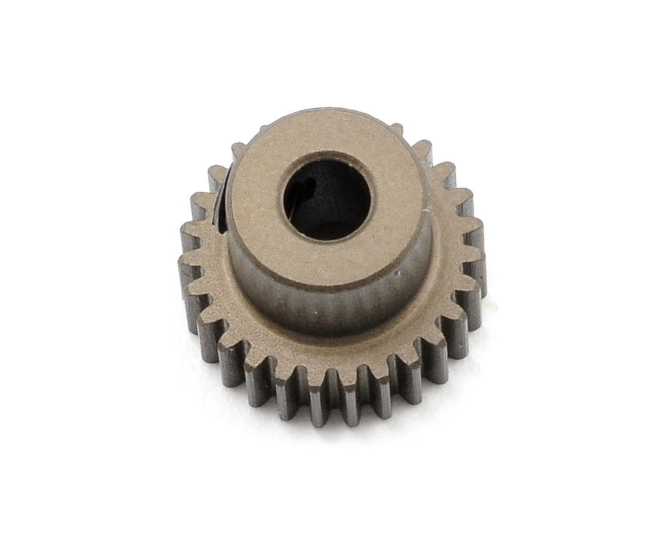 Aluminum 64P Narrow Hard Coated Pinion Gear (27T) by XRAY
