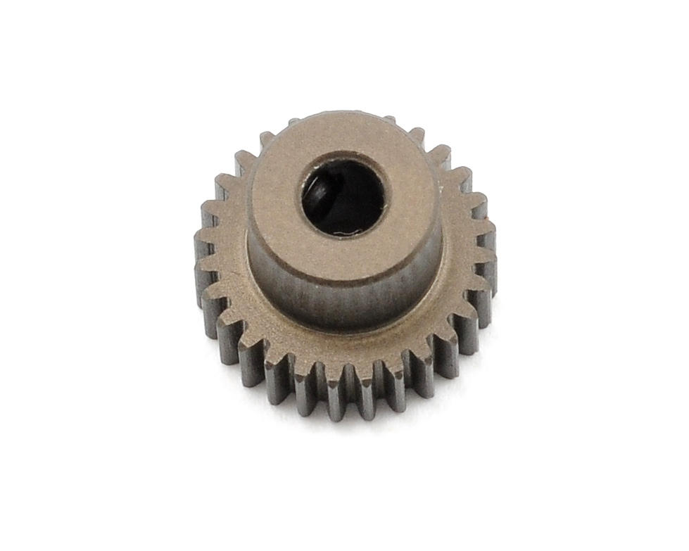 Aluminum 64P Narrow Hard Coated Pinion Gear (28T) by XRAY
