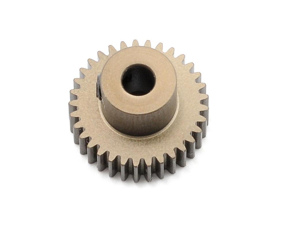 Aluminum 64P Narrow Hard Coated Pinion Gear (33T) by XRAY