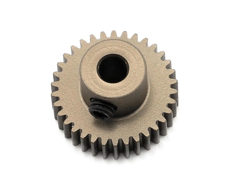 Aluminum 64P Narrow Hard Coated Pinion Gear (34T) by XRAY