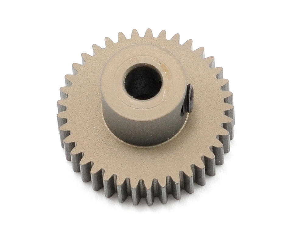 Aluminum 64P Narrow Hard Coated Pinion Gear (37T) by XRAY