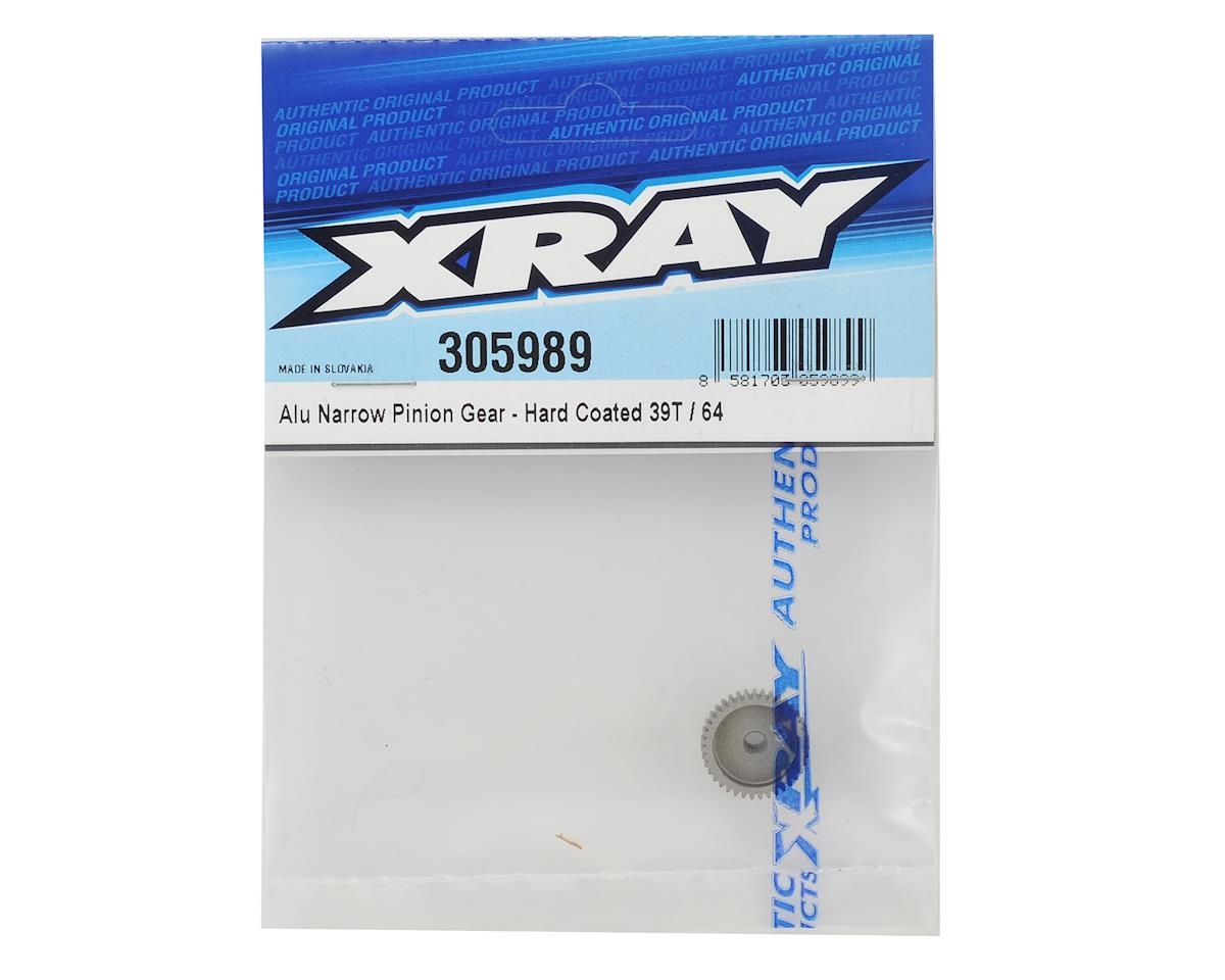 XRAY Aluminum 64P Narrow Hard Coated Pinion Gear (39T)