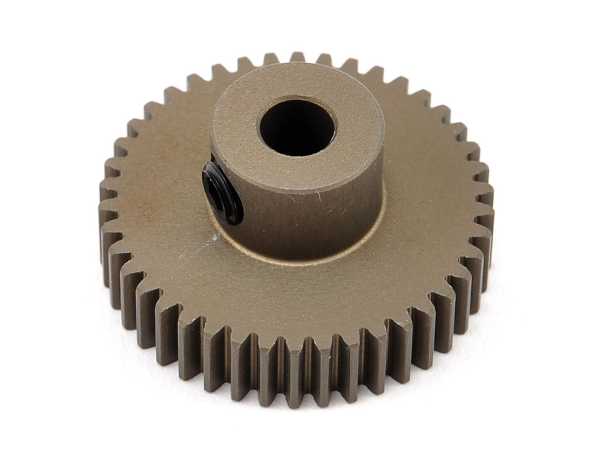 XRAY Aluminum 64P Narrow Hard Coated Pinion Gear (42T)