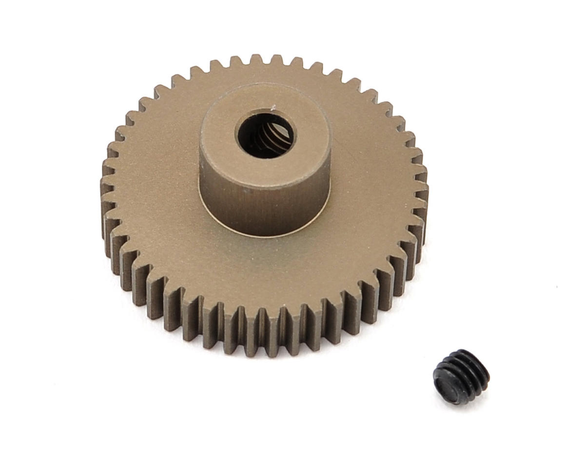 XRAY Aluminum 64P Narrow Hard Coated Pinion Gear (46T)