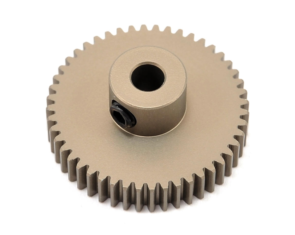 Aluminum 64P Narrow Hard Coated Pinion Gear (48T) by XRAY