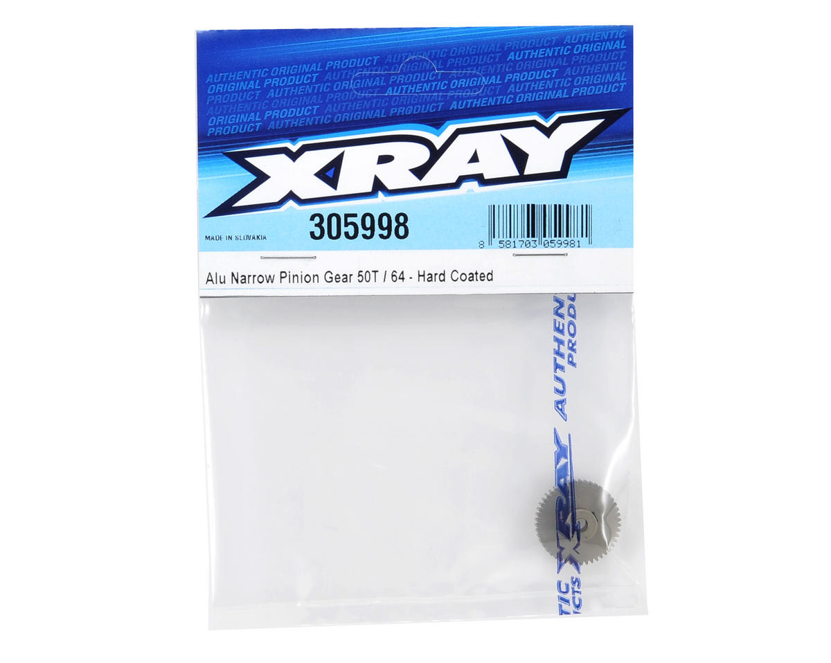 XRAY Aluminum 64P Narrow Hard Coated Pinion Gear (48T)