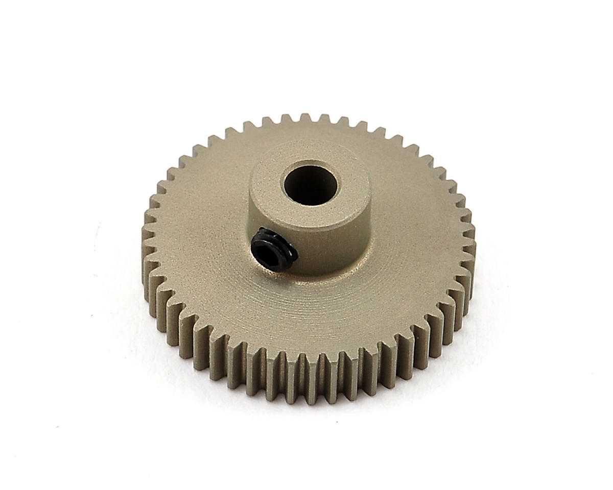 Aluminum 64P Narrow Hard Coated Pinion Gear (50T) by XRAY