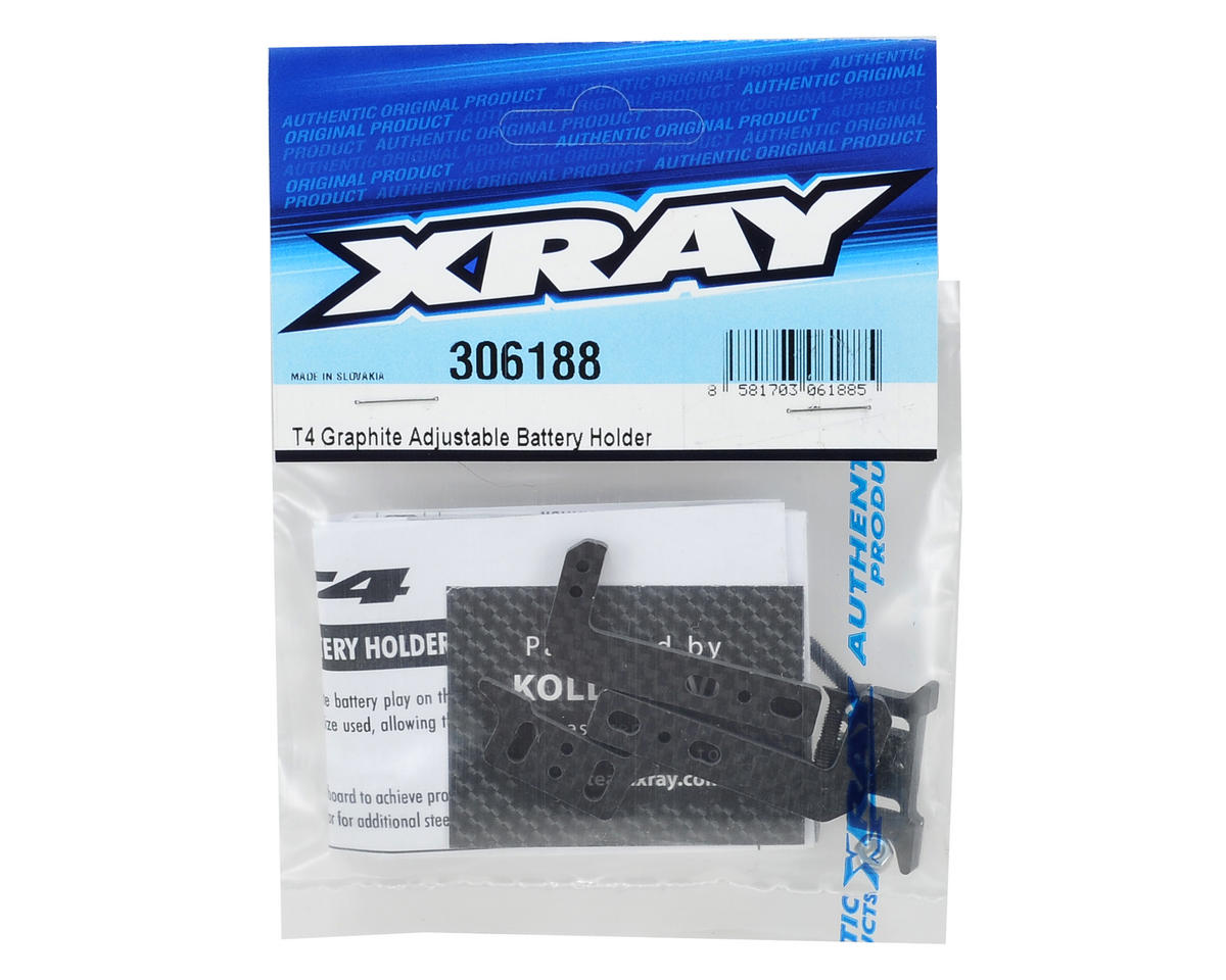 Graphite Adjustable Battery Holder by XRAY