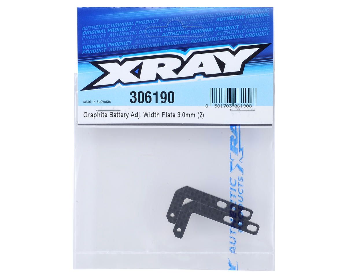 Graphite Adjustable Width Battery Plate (2) by XRAY
