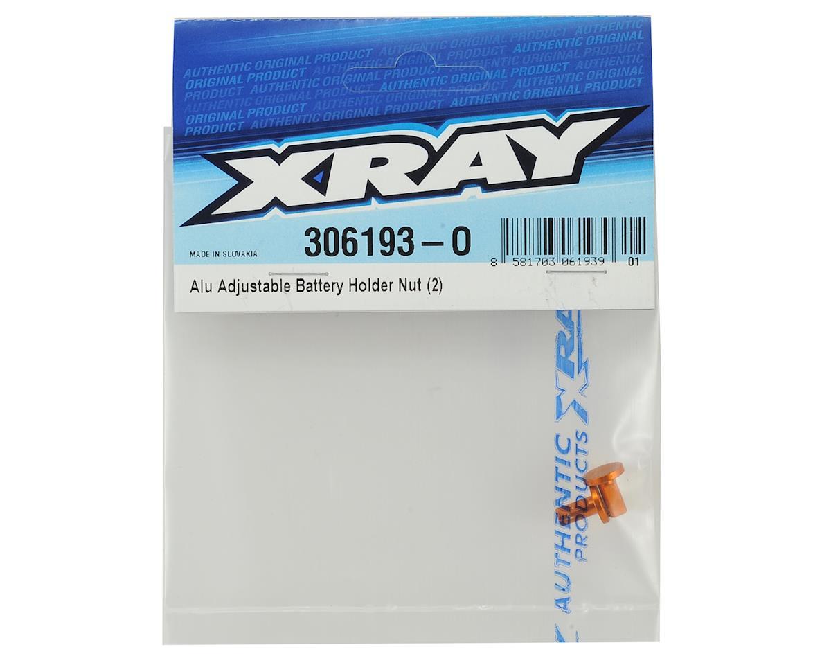 XRAY Aluminum Adjustable Battery Holder Nut (2)