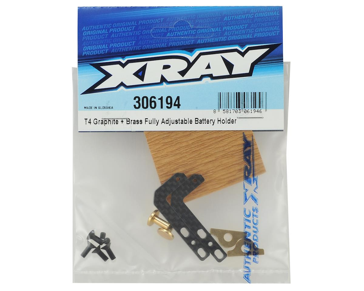 XRAY T4 Graphite & Brass Fully Adjustable Battery Holder