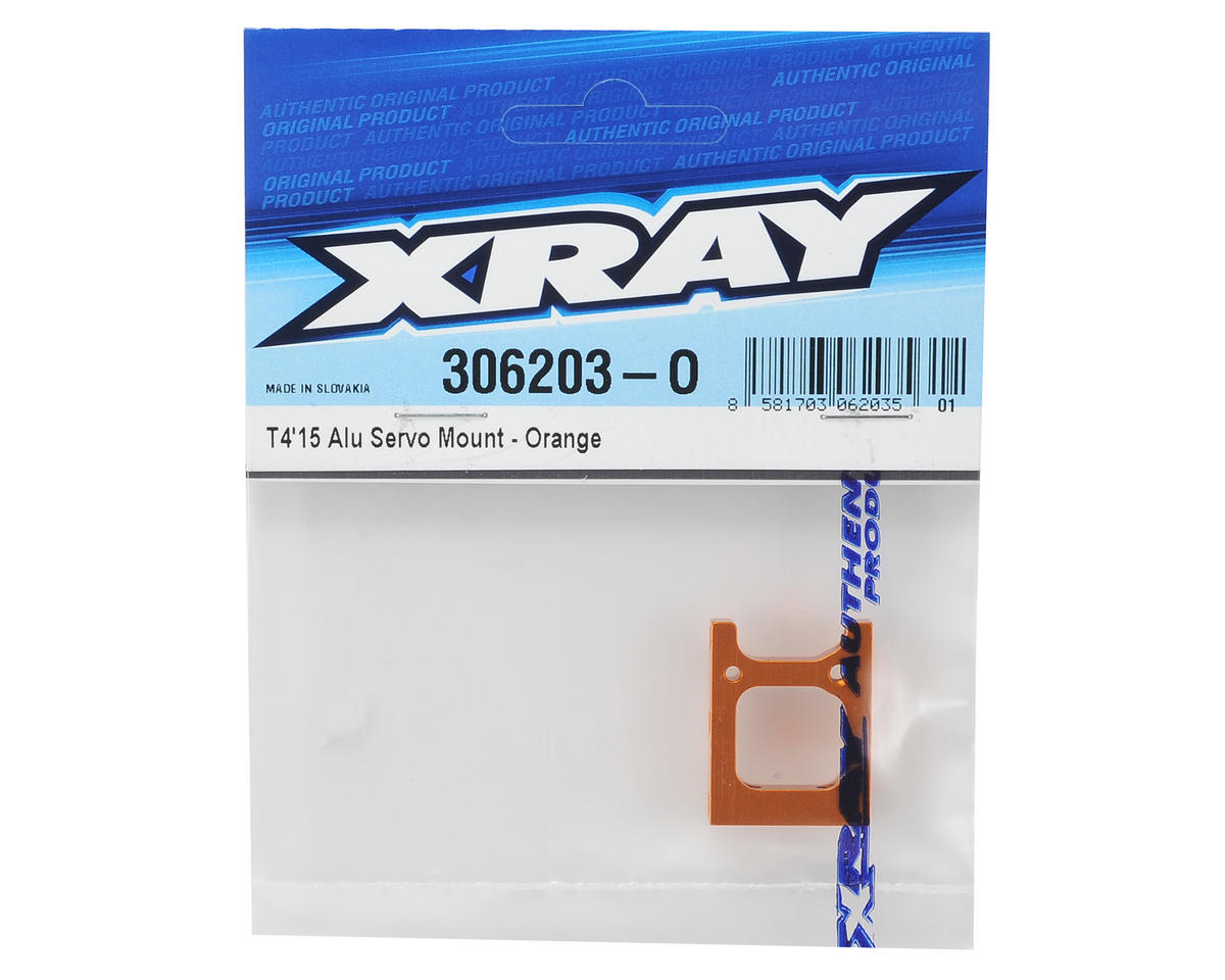 XRAY T4 2015 Aluminum Servo Mount (Orange)